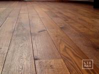 Ozola masīvkoka grīdas dēļi, 20x140 x 500-2400 mm, Rustic šķirojums, eļļoti valrieksta tonī