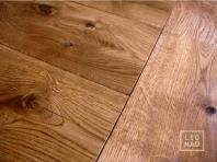 Solid Oak flooring, 20x140 x 500-2400 mm, Rustic grade, oiled in colour Walnut