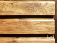 Solid Oak skirting, 20x70 mm, Rustic grade, profile with radius, natural oiled