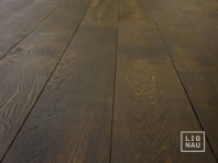 Solid smoked oak flooring, Parquet, 20x120 x 500-2700 mm, Prime-Nature grade, aged, sandblasted, natural oiled