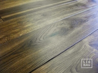 Smoked oak solid wood flooring, 20x140 x 500-2700 mm, Nature grade, brushed, natural oiled