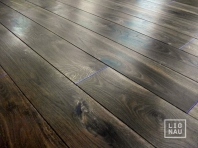 Solid smoked oak flooring, 20x180 x 500-2900 mm, Rustic grade, filled, pre-sanded and natural oiled