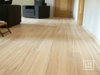 Solid Ash flooring, 15x110 x 400-2400 mm, Nature grade, white oiled