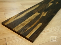 Solid smoked Oak worktop, finger-jointed, 20 x 300 x 2550 mm, Markant grade, natural oiled