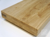 Solid Oak Hardwood stair treads, three-fold glued, continuous lamella, thickness 60 mm, Rustic grade, unfinished