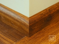 Solid skirtings, Smoked Oak skirting boards, 20x50 mm, profile with radius, Rustic grade, natural oiled