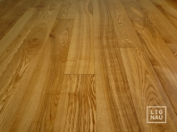 Solid Ash flooring, Parquet, 15x110 x 400-2400 mm, Nature grade, oiled in color Walnut