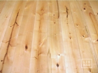 Solid Baltic Birch flooring, 20x210 x 500-2900 mm, Rustic grade, pre-sanded