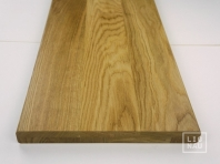 Solid Oak Hardwood stair treads, two-fold glued, continuous lamella, thickness 40 mm, Prime-Nature grade grade, lacquered