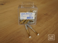 Skirting board strengthening set with a white head screw 4.0x50mm + plug 6mm, 25 pcs.