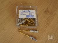 Skirting board strengthening set, screw 4.0x50mm + plug 6mm, 25 pcs.
