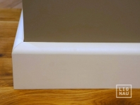 Solid wood skirtings, Baltic Birch, 20x110 mm, profile with radius, white painted