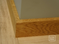 Solid Oak skirting, 15x70 x1400-2700 mm, with small radius, Prime-Nature grade, natural oiled