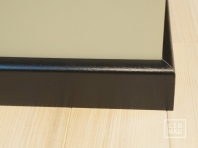 Solid wood skirtings, Baltic Birch, 15x50 x 2400 mm, profiel with radius, painted Graphite black RAL 9011
