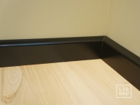 Solid wood skirtings, Baltic Birch, 15x70 x 2400 mm, profiel with radius, painted Graphite black RAL 9011