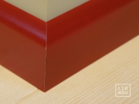 Solid wood skirtings, Baltic Birch, 15x90 x 2400 mm, profiel with radius, painted Wine red RAL 3005
