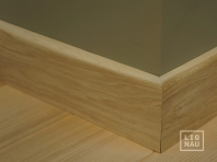 Solid Oak skirting, 15x70 x1400-2700 mm, with small radius, Prime-Nature grade, unfinished