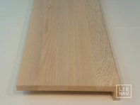 Solid Ash window sill, 20 mm, with overhang, continuous lamella, Prime-Nature grade, unfinished