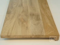 Solid Oak window sill, 20 mm, with overhang, continuous lamella, Rustic grade, unfinished