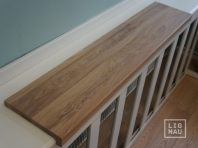 Solid Oak window sill, 20 mm, with overhang, continuous lamella, Prime-Nature grade, white oiled
