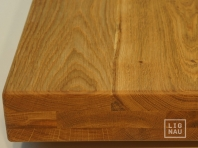 Solid Oak Hardwood stair treads, three-fold glued, continuous lamella, thickness 60 mm, Nature grade, natural oiled