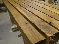 Solid Oak beams, KD, 100x100 x 3000 mm, kiln dried, sawn and brushed, natural oiled