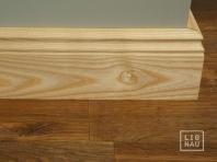 Solid wood skirting, Ash, historical profile of Hamburg, 20x70, Prime-Nature grade, natural oiled