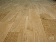Solid Oak flooring, 20x120 x 400-1400 mm, Nature-Rustic grade, filled and pre-sanded
