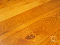 Solid Ash flooring, 20x140 x 600-2800 mm, Rustic grade, oiled in color Cherry