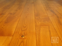 Solid Ash flooring, 20x180 x 600-2800 mm, Rustic grade, oiled in color Cherry
