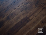 Solid Baltic Birch flooring, 20x160 x 500-2900 mm, Rustic grade, unfilled, oiled in colour Walnut