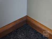 Solidwood skirting, Smoked Oak, 20x50, profile with radius, Prime-Nature grade, natural oiled