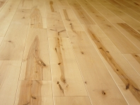 Solid Birch hardwood flooring, Rustic grade 20x120 x 500-2100mm, Hardwaxoil neutral white oiled
