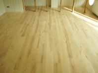 Solid Birch hardwood flooring, Rustic grade 20x160 x 500-1900mm, filled and pre-sanded