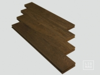 Solid Smoked Oak parquet 22x70x500 mm, Nature grade