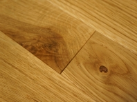 Solid Classic Oak parquet, 16x70x500 mm, Rustic grade, natural oiled