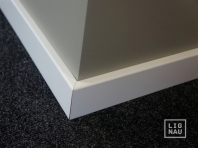 Solid wood skirtings, Baltic Birch, 15x50 x 2400 mm, with small radius, white painted