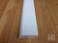 Solid wood skirtings, Baltic Birch, 20x50 mm, profile with radius, white painted