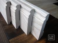 Solid wood skirting, Ash, historical profile of Hamburg, 20x150, Prime-Nature grade