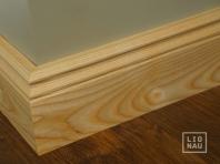 Solid wood skirting, Ash, historical profile of Hamburg, 20x90, Prime-Nature grade, natural oiled