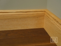 Solid wood skirting, Ash, historical profile of Hamburg, 20x110, Prime-Nature grade, natural oiled