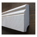 Solid wood skirting, Baltic Birch, historical profile of Hamburg, 20x90 mm, unfinished