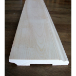 Solid wood skirting, Baltic Birch, historical profile of Hamburg, 20x130 mm, unfinished