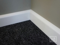 Solid wood skirtings, Baltic Birch, 15x70 x 2400 mm, profiel with radius, white painted