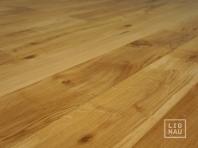 Ozola masīvkoka grīdas dēļi, 20x140 x 500-2400 mm, Rustic šķirojums, špaktelēti, slīpēti un eļļoti dabīgā tonī