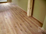 Solid Oak flooring, 20x120 x 500-2400 mm, Rustic grade, white oiled