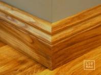 Solid Oak skirting, historical profile of Hamburg, 20x70 mm, Prime-Nature grade, natural oiled