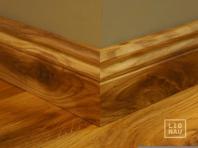 Solid Oak skirting, historical profile of Hamburg, 20x70 mm, Nature-Rustic grade, natural oiled