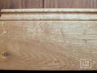 Solid Oak skirting, historical profile of Hamburg, 20x90 mm, Nature-Rustic grade, natural oiled