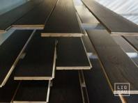 Ozola masīvkoka grīdas dēļi, 20x140 x 500-2400 mm, Rustic šķirojums, melni eļļoti